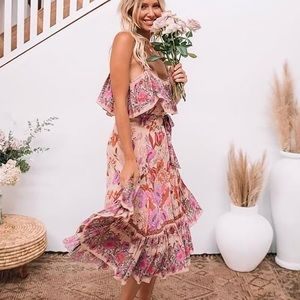 NWT Spell Siren Song Strappy Dress Flamingo XS
